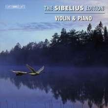 Jean Sibelius (1865-1957): The Sibelius Edition Vol.6 - Werke für Violine & Klavier, 5 CDs
