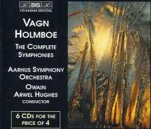Vagn Holmboe (1909-1996): Symphonien Nr.1-13, 6 CDs