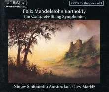 Felix Mendelssohn Bartholdy (1809-1847): Streichersymphonien Nr.1-12, 4 CDs