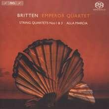 Benjamin Britten (1913-1976): Streichquartette Nr.1 & 3, Super Audio CD