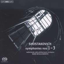 Dmitri Schostakowitsch (1906-1975): Symphonien Nr.1-3, Super Audio CD