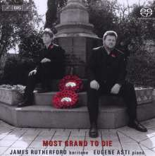 James Rutherford - Most Grand To Die, Super Audio CD