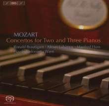 Wolfgang Amadeus Mozart (1756-1791): Konzerte für 3 & 2 Klaviere & Orchester KV 242 & 365, Super Audio CD