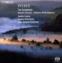 Carl Maria von Weber (1786-1826): Symphonien Nr.1 & 2, Super Audio CD