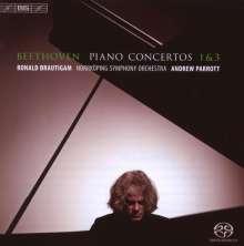 Ludwig van Beethoven (1770-1827): Klavierkonzerte Nr.1 & 3, Super Audio CD