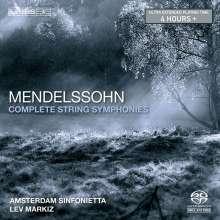 Felix Mendelssohn Bartholdy (1809-1847): Streichersymphonien Nr.1-12, Super Audio CD Non-Hybrid