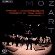 Wolfgang Amadeus Mozart (1756-1791): Violinkonzerte Nr.3 & 5, Super Audio CD