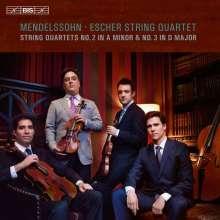 Felix Mendelssohn Bartholdy (1809-1847): Streichquartette Nr.2 & 3, Super Audio CD