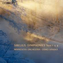 Jean Sibelius (1865-1957): Symphonien Nr.1 & 4, SACD