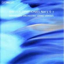Jean Sibelius (1865-1957): Symphonien Nr.3,6,7, Super Audio CD