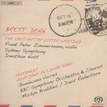 "Brett Dean (geb. 1961): Violinkonzert ""The Lost Art Of Letter Writing"", SACD"