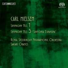 Carl Nielsen (1865-1931): Symphonien Nr.1 & 3, Super Audio CD