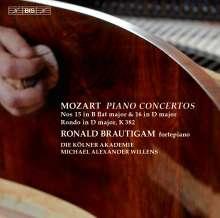 Wolfgang Amadeus Mozart (1756-1791): Klavierkonzerte Nr.15 & 16, Super Audio CD
