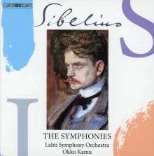 Jean Sibelius (1865-1957): Symphonien Nr.1-7, 3 SACDs