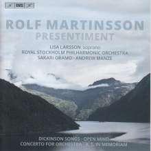 Rolf Martinsson (geb. 1956): Orchesterlieder nach Gedichten von Emily Dickinson op.82a, SACD