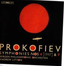 Serge Prokofieff (1891-1953): Symphonien Nr.4 & 7, Super Audio CD