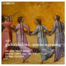 Sofia Gubaidulina (geb. 1931): Sonnengesang für Kammerchor, Cello & Percussion, SACD