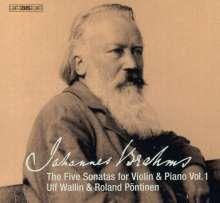 Johannes Brahms (1833-1897): Die 5 Sonaten für Violine & Klavier Vol.1, SACD