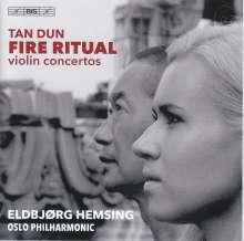 """Tan Dun (geb. 1957): Violinkonzerte """"Fire Ritual"""" & """"Rhapsody and Fantasia"""", SACD"""