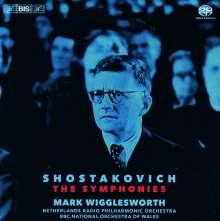 Dmitri Schostakowitsch (1906-1975): Symphonien Nr.1-15, 10 Super Audio CDs