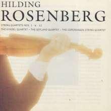 Hilding Rosenberg (1892-1985): Streichquartette Nr.1,6, 12, CD