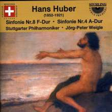 Hans Huber (1852-1921): Symphonien Nr.4 & 8, CD