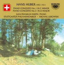 Hans Huber (1852-1921): Klavierkonzerte Nr.1 & 3 (op.36 & 113), CD