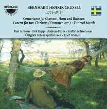 Bernhard Crusell (1775-1838): Concertante op.3 für Klarinette,Horn,Fagott,Blasorchester, CD
