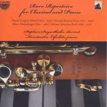 Stephan Siegenthaler & Konstantin Lifschitz - Rare Repertoire for Clarinet and Piano, CD