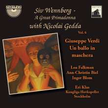 Siv Wennberg - A Great Primadonna Vol.6 / Verdi - Un Ballo in Maschera (Gesamtaufnahme), 2 CDs