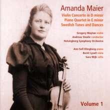 Amanda Maier (1853-1894): Violinkonzert d-moll, CD