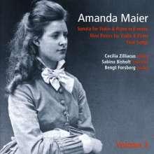 Amanda Maier (1853-1894): Violinsonate h-moll, CD