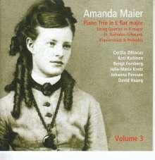 Amanda Maier (1853-1894): Klaviertrio Es-Dur, CD