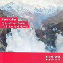 Hans Huber (1852-1921): Sextett für Flöte,Oboe,Klarinette,Horn,Fagott,Klavier B-Dur, CD