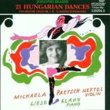 Johannes Brahms (1833-1897): Ungarische Tänze Nr.1-21 f.Violine & Klavier, CD