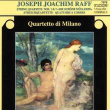 Joachim Raff (1822-1882): Streichquartette Nr.1 & 7, CD