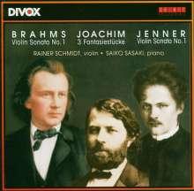 Gustav Jenner (1865-1920): Violinsonate Nr.1 op.8, CD