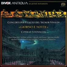 """Antonio Vivaldi (1678-1741): Flötenkonzerte RV 108,428,437,439,443 - """"Giorno e Notte"""", Super Audio CD"""