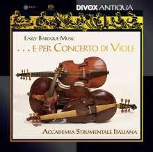 Early Baroque Music...e per Concerto di Viole, Super Audio CD