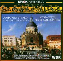 Antonio Vivaldi (1678-1741): Violinkonzerte RV 208,212,270,286,581,582, CD