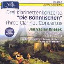 """Jan Vaclav Knezek (1745-1806): Klarinettenkonzerte Es-Dur, B-Dur, A-Dur """"Die Böhmischen"""", CD"""