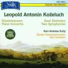 Leopold Kozeluch (1747-1818): Symphonien A-Dur & g-moll, CD