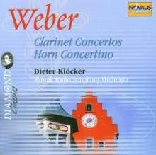 Carl Maria von Weber (1786-1826): Klarinettenkonzerte Nr.1 & 2, 2 CDs