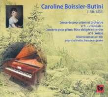 "Caroline Boissier-Butini (1786-1836): Klavierkonzerte Nr.5 ""Irish"" & Nr.6 ""Suisse"", CD"