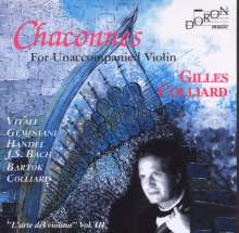 Gilles Colliard - Chaconnes, CD