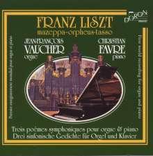 Franz Liszt (1811-1886): Symphonische Dichtungen für Klavier & Orgel, CD