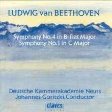 Ludwig van Beethoven (1770-1827): Symphonien Nr.1 & 4, CD