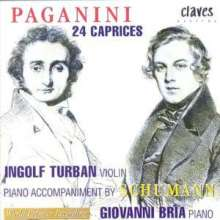 Niccolo Paganini (1782-1840): Capricen op.1 Nr.1-24 für Violine & Klavier, CD