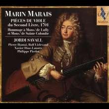 Marin Marais (1656-1728): Pieces de Viole Buch 2 (1701), CD