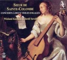 Sieur de Sainte-Colombe (1640-1700): 10 Concerts für 2 siebensaitige Gamben, 2 SACDs